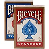 Bicycle Standard Playing Cards (Set of 2 Decks: Red & Blue)