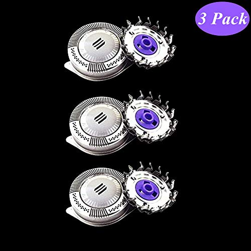 3 Pack Men's Electric Shaver Replacement Rotary Blades for Philips HQ8 PT720 PT860 AT750 AT880 AT890 AT899, Razor Shaving Heads Blades Electronic Foil & Cutter for Philips, Close Comfortable Shave. (Norelco Replacement Heads 7140xl)
