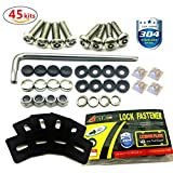 License Plate Screws Stainless Steel Anti-theft Tamper Resistant Kit For License Plates Security And Covers ( 45 Pc)