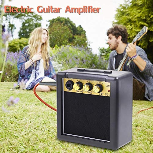 yunbox299 Electric Guitar Amplifier, Electric Guitar Amp, Mini Portable 5W Electric Guitar Practice Amplifier Volume Tone Control Speaker