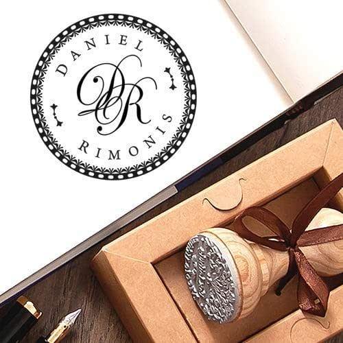 Sello Personalizado iniciales Caja de Regalo Papel Marrón Kraft Para el Presente
