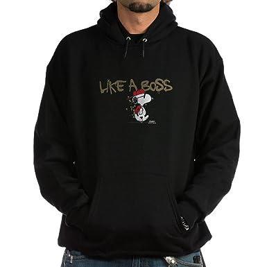 b890d54f4 Amazon.com: CafePress Peanuts Snoopy Like A Boss Hoodie Sweatshirt: Clothing