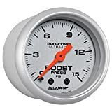 Auto Meter (4302) Ultra-Lite 2-1/16'' 0-15 PSI Mechanical Boost Gauge