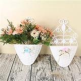 HUPLUE Flower Baskets Wall Hanging Artificial Flowers Plastic Basket for Flower Arrangement