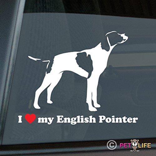 - Mister Petlife I Love My English Pointer Sticker Vinyl Auto Window