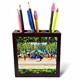 3dRose Alexis Photo-Art - Moscow City 2 - Artistic Moscow - Floral frame as the city decoration for Easter - 5 inch tile pen holder (ph_272398_1)