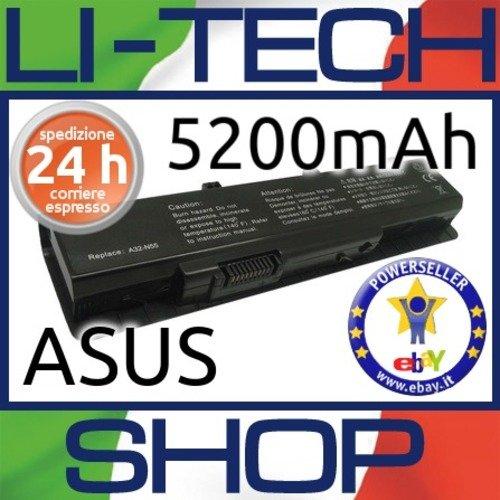 Batería compatible 5200 mAh para Asus n55sf-s2134 V Ordenador Portatil 57 Wh 5.2 Ah: Amazon.es: Electrónica
