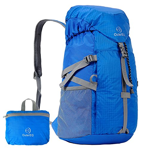 OuterEQ Packable Travel Outdoor Backpacks Foldable Daypacks for Camping Hiking