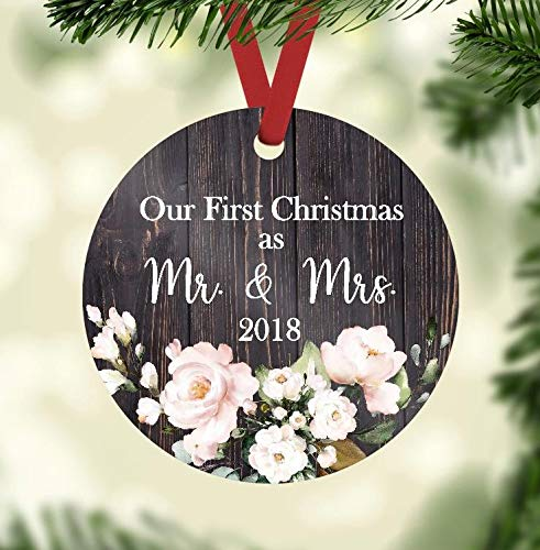 Amazon.com: Christmas Ornament - Our First Christmas as Mr. and Mrs ...