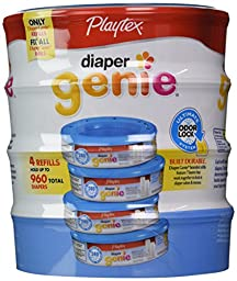 Playtex Diaper Genie Disposal System Refills, 4 Count