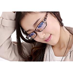 Starsource Unisex Fashion Anti-reflective/Anti-glare/Uv Protection/Clear Lens Plain Computer Eyewear Eye Glasses Read Eyeglasses-No Magnification