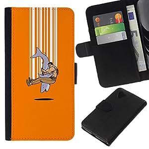 All Phone Most Case / Oferta Especial Cáscara Funda de cuero Monedero Cubierta de proteccion Caso / Wallet Case for LG Nexus 5 D820 D821 // Shark Explosion - Funny