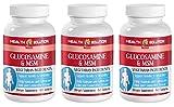 Msm supplement organic - GLUCOSAMINE AND MSM - improve skin health (3 bottles)