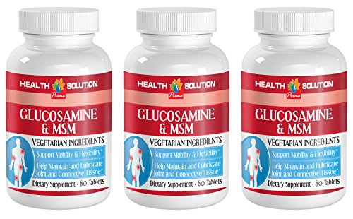 Msm supplement organic - GLUCOSAMINE AND MSM - improve skin health (3 bottles) by Health Solution Prime