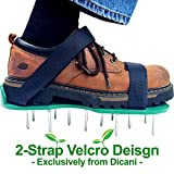 Lawn Aerator Shoes w/ Velcro Straps - Heavy Duty Spikes Lawn Aerator Sandals for Aerating Your Grass Lawn or Yard