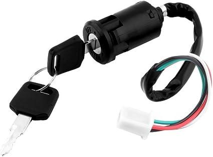 Ulable Universal Zündschloss Mit Schlüssel 4 Polig Für Motorrad Roller Passend Für Honda Küche Haushalt