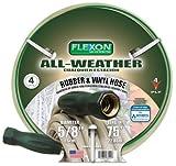 Flexon FAW5875 5/8-Inch x 75-Foot All-Weather 4-Ply Medium Duty Garden Hose