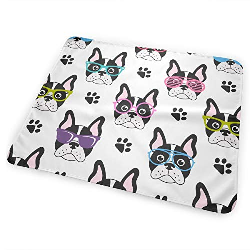 FnH88Ee Pattern with French Bulldogs Baby Crib Pee Mat Washable Urine Bed Pads Absorbent Reusable - Changing Pad Waterproof Mattress Protector for Toddler Kids Infant Pets Incontinence