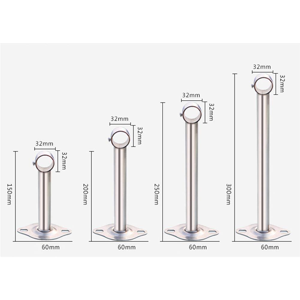 Vosarea 2 St/ücke 32 mm Edelstahl Schrank Stange Halterung Kleiderschrank Montage Rohr Halterung Hardware Heavy Duty Duschvorhang Rohr f/ür Balkon Badezimmer K/üche