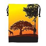 Personality Africa Vector Gym Drawstring Shoulder Bag Backpack