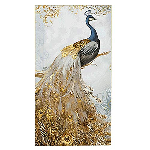 Trayosin 5D Diamond Painting by Numbers for Adults Full Drill Gold Peacock Home ()