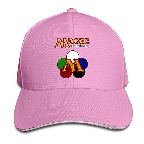sunny-fish6hh-unisex-adjustable-magic-gathering-game-baseball-caps-hat-one-size-pink