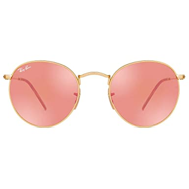 Óculos de Sol Ray Ban Round Flat Lenses RB3447NL 001 Z2-50  Amazon ... 7f98a6b44d