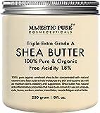 #9: Majestic Pure Shea Butter, Natural Skin Care, Organic Virgin Cold-Pressed Raw Unrefined Premium Grade from Ghana - 8 oz