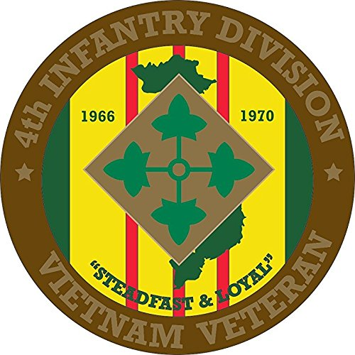4th Infantry Division Vietnam Veteran 5.5 Inch Decal ()