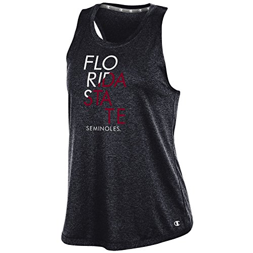 Champion NCAA Florida State Seminoles Women's Epic Traverse Tank, Medium, Black -