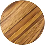 Ironwood Gourmet, Acacia Wood, 9-inch Circle Prep & Cutting Board