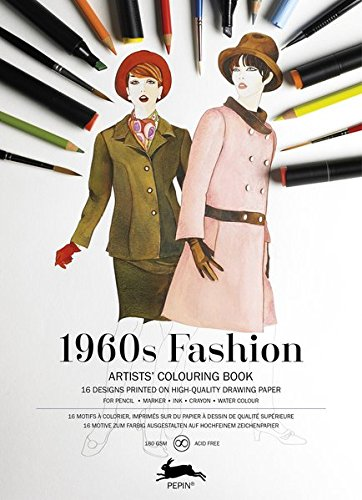 Pepin Press Pepin Press 1960s Fashion : ARTISTS'COLOURING BOOK (98086)