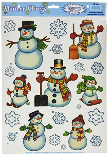 Snowman/Snowflake Clings Window Decorations