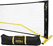 A11N Portable Pickleball Net System, Designed for All Weather Conditions with Steady Metal Frame and Strong PE