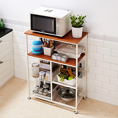 Kitchen Shelf / Microwave Shelf / Multilayer Shelf ( Color : B ) by Shelf-xin