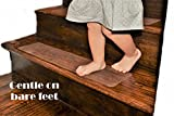 """14 Pack (6""""x24""""), Non-Slip Clear Adhesive Safety Stair Treads - Translucent, Child Proofing, Pet Safety, Elderly Safety, Adhesive Strips, Anti Slip, Slip and Fall Acciden"""