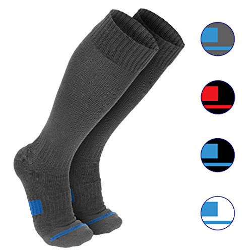 Wanderlust Unisex Compression Socks - Eliminate Pain, Swelling, Edema - Gray MD