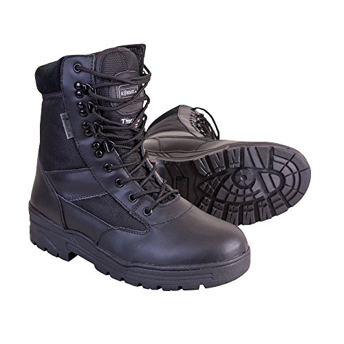 Boots Thinsulate Kombat Black Uk Half With Patrol Mens Leather Z404BqYw