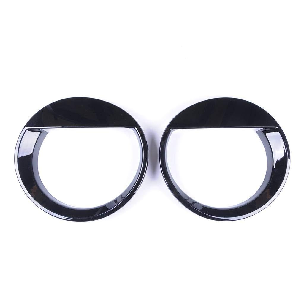 Wotefusi QP1021 Car New Black Color Pair Abs Electroplating Front Headlight Lamp Light Cover Molding Trim Frame Rim Kit Set Bird Type