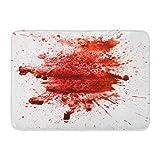 Puyrtdfs Doormats Bath Rugs Outdoor/Indoor Door Mat Red Splat Blood Splatter Watercolor Wet Abstract Color Dirty Drip Bathroom Decor Rug 16 24 inch;
