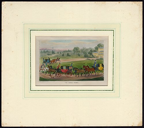 Alken Horse (Antique Print-FOUR IN HAND-STAGECOACH-TEAM-HORSE-Alken-1830)