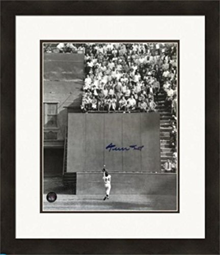 Willie Mays autographed 16x20 Photo (The Catch 1954 World Series Great Moment) Framed Matted Say Hey Players Own Hologram - Willie Mays Autographed Photo