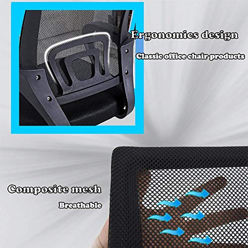 BestOffice Chair Desk Ergonomic Swivel Executive Adjustable Task MidBack Computer Stool with Arm in Home-Office Mesh Black (2pcs) by BestOffice (Image #4)