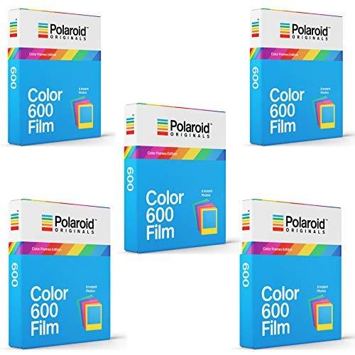 Polaroid Originals Instant Color Film for Color Frames (600 Camera) 5 Pack Bundle