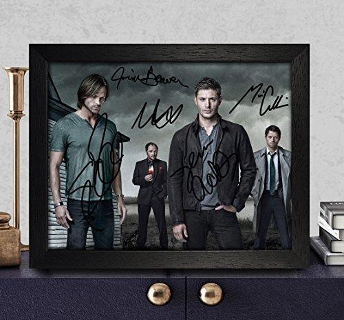 Supernatural Signed Autographed Photo 8X10 Reprint Rp Pp - Jim Beaver, Mark Sheppard, Misha Collins, Jared Padalecki & Jensen (Autograph Envelope Signed)