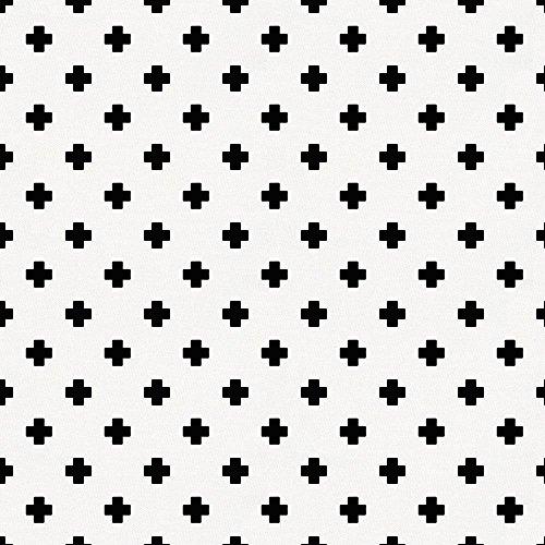 Carousel Designs Onyx Mini Swiss Cross Fabric by The Yard - Organic 100% Cotton