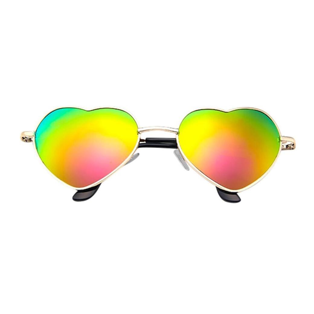 VENMO Mens Damen Metallrahmen Damen Herzform Sonnenbrille Lolita ...