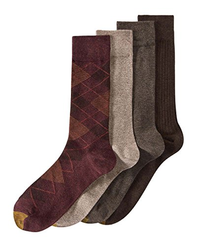 - Gold Toe Mens Argyle Calf Dress Socks Red 10-13