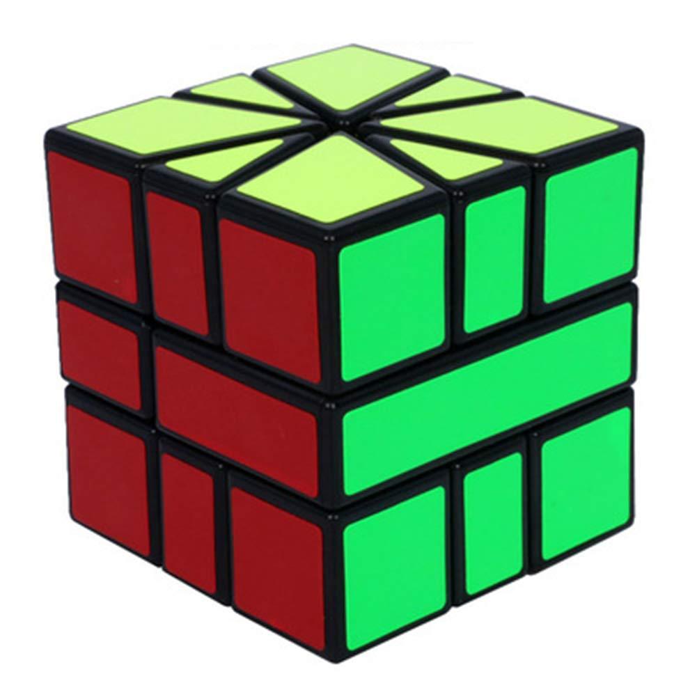 SHENSHOU Rubik's Cube Intelligence Puzzle SQ1 Smooth Rubik,Blackedge,5.55.55.5Cm