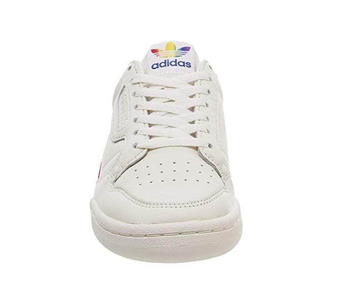 adidas Originals Continental 80 Pride Off White Leather Adult Trainers Shoes